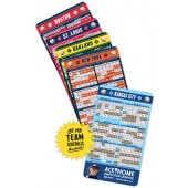 Pro Baseball Schedule Magnet with Custom Imprint 3.5 x 6""
