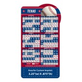 Pro Baseball Top Schedule Magnet with Custom Imprint 3.875x7.25""