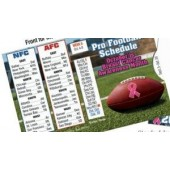Pro Football Wallet Size Schedule at a glance MS-29